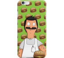 Bob Belcher Burger Pattern Green iPhone Case/Skin