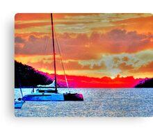 Grand Case Sunset Canvas Print