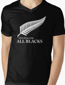 Kiwi All Blacks New Zealand Mens V-Neck T-Shirt
