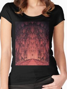 The Gates of Barad Dûr Women's Fitted Scoop T-Shirt