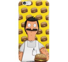 Bob Belcher Burger Pattern Yellow iPhone Case/Skin
