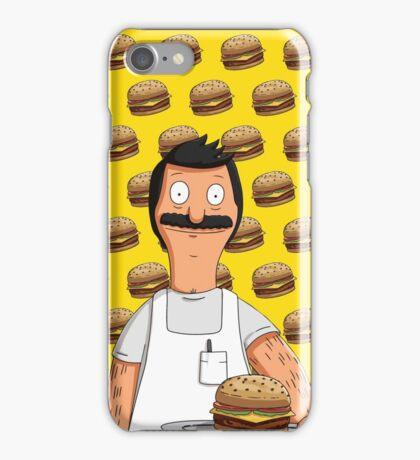 Bob Belcher Burger Pattern Yellow iPhone Case/Skin