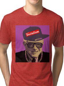 Bernie = Yung Political Genius Tri-blend T-Shirt