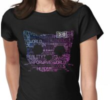 Vaporwave Hello Kitty Japanese Tumblr Word Cloud Womens Fitted T-Shirt