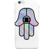 hologram hamsa iPhone Case/Skin