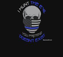 BLUE Line Skull Unisex T-Shirt