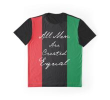 All Men Are Equal Afro Flag Graphic T-Shirt