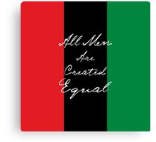 All Men Are Equal Afro Flag Canvas Print