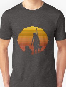 Rey - Jakku Sunset - Star Wars T-Shirt
