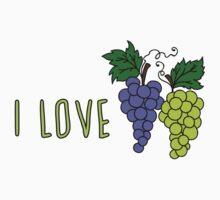 I love grapes Kids Tee