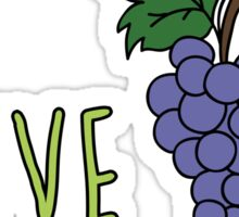 I love grapes Sticker