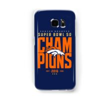 Broncos Super Bowl Champions BLUE Samsung Galaxy Case/Skin