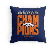 Broncos Super Bowl Champions BLUE Throw Pillow
