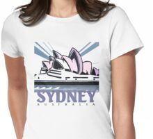 Opera House Sydney pop art design Womens Fitted T-Shirt