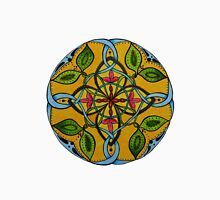 Leaf Flower Celtic Knot Mandala Original Signed Print Spiritual Art Unisex T-Shirt