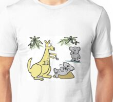 Cartoon of kangaroo dentist taking koala bear tooth out. Unisex T-Shirt