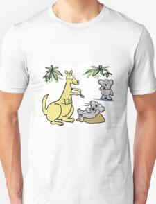 Cartoon of kangaroo dentist taking koala bear tooth out. T-Shirt