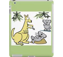 Cartoon of kangaroo dentist taking koala bear tooth out. iPad Case/Skin