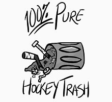 100% Pure Hockey Trash (White) Womens Fitted T-Shirt