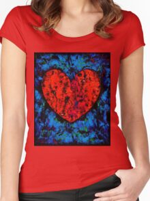 Valentine Heart Women's Fitted Scoop T-Shirt