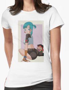 Bulma & Yamcha Womens Fitted T-Shirt