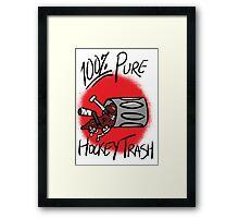 100% Pure Hockey Trash (Red) Framed Print