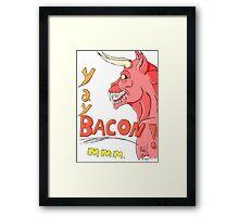 Bacon Demon Framed Print
