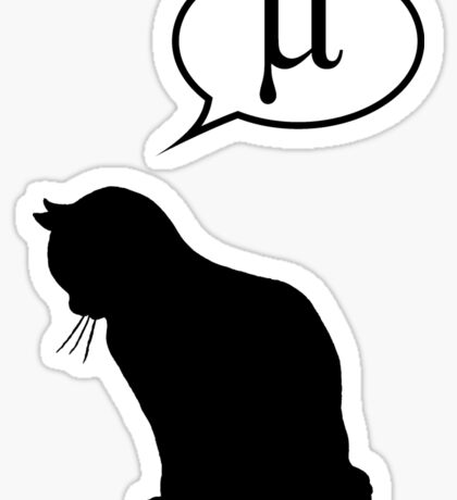 Physics Cat and Friction Coefficient Sticker