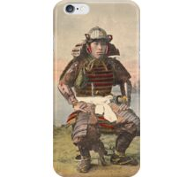 Samurai warrior in armour - 1900 iPhone Case/Skin