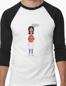 Linda Belcher Wine Pattern Red Men's Baseball ¾ T-Shirt