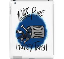 100% Pure Hockey Trash (Blue) iPad Case/Skin