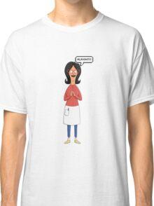 Linda Belcher Wine Pattern Blue Classic T-Shirt