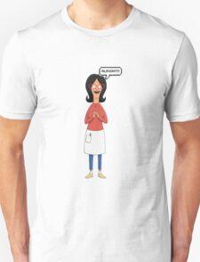Linda Belcher Wine Pattern Blue T-Shirt