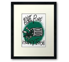 100% Pure Hockey Trash (Green) Framed Print