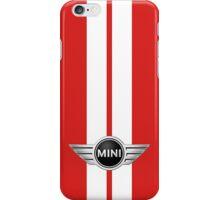 Mini Cooper Strips - Chili Red iPhone Case/Skin