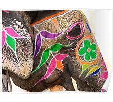 Amber Elephant Poster