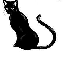 Black Cat by roboinvisabunny