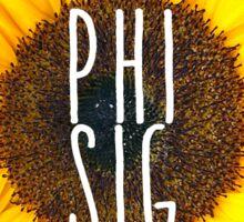 phi sig sunflower Sticker