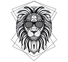 Ornate Cool Lion by psydrian