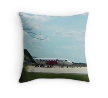Turbo Prop Commuter Plane Throw Pillow
