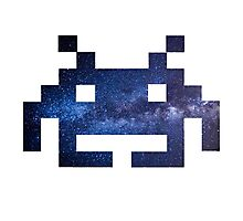 Galaxy Space Invader #1 Photographic Print