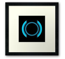Interact 1.0 - Blue Framed Print