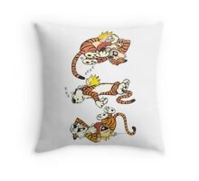 Calvin and Hobbes Cute  Throw Pillow