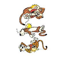 Calvin and Hobbes Cute  Photographic Print