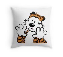 Hobbes Alone Throw Pillow