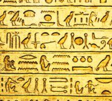 Ancient Egyptian Hieroglyphs Yellow Sticker