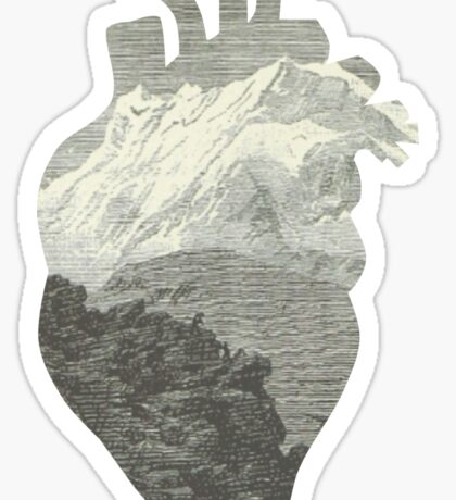 Mountains in my heart Sticker