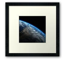 EARTH ORBIT Framed Print