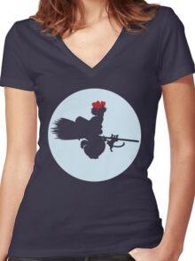 Kiki Women's Fitted V-Neck T-Shirt