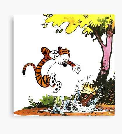 Calvin and Hobbes Playground Canvas Print